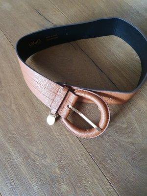 Liu jo Cinturón de cuero de imitación coñac
