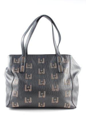 Liu jo Handtasche schwarz-goldfarben Motivdruck Business-Look