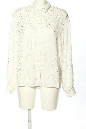 Liu jo Camicia blusa bianco sporco-oro motivo a pallini stile casual