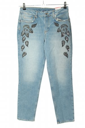 Liu jo High Waist Jeans blue embroidered lettering casual look