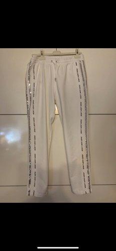 Liu jo Pantalone da ginnastica bianco-argento