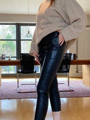 Liu jo Skórzane spodnie czarny