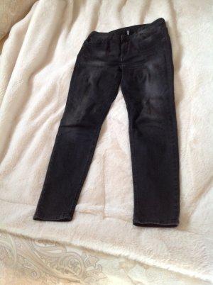 Liu jo Slim jeans donkergrijs Katoen
