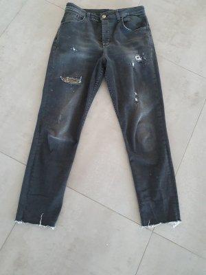 Liu jo 7/8-jeans zwart-goud
