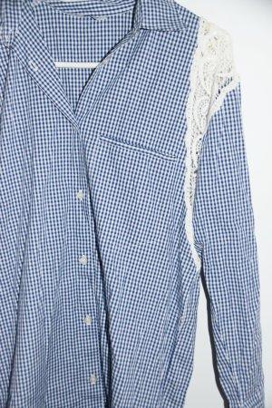 Liu jo Blouse Dress white-steel blue cotton
