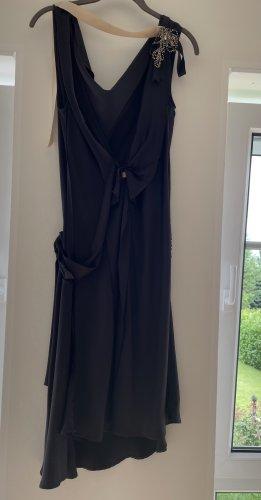 Liu jo Vestido de Verano gris antracita-nude Seda