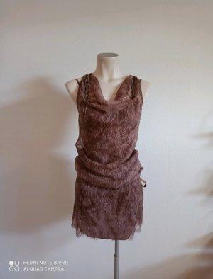 Liu jo Koronkowa sukienka beżowy-stary róż