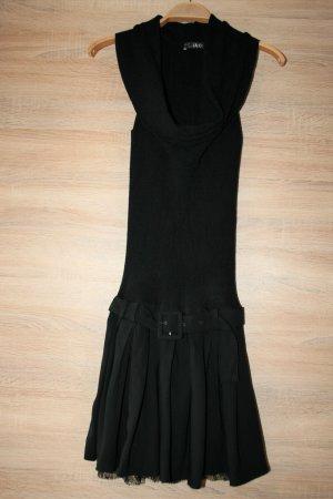 Liu jo Vestido de tubo negro-color plata Viscosa