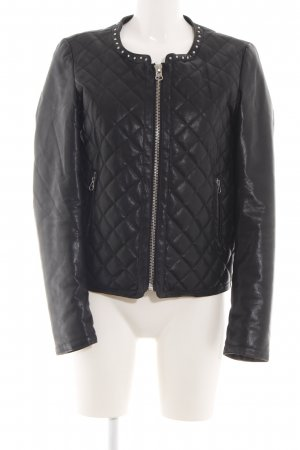 Liu jo Faux Leather Jacket black quilting pattern casual look