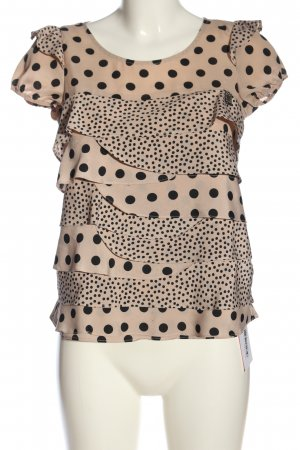 Liu jo Kurzarm-Bluse pink-schwarz Punktemuster Casual-Look