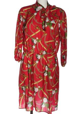 Liu jo Sukienka z długim rękawem Abstrakcyjny wzór Elegancki