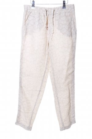 Liu jo Linen Pants natural white-white allover print casual look