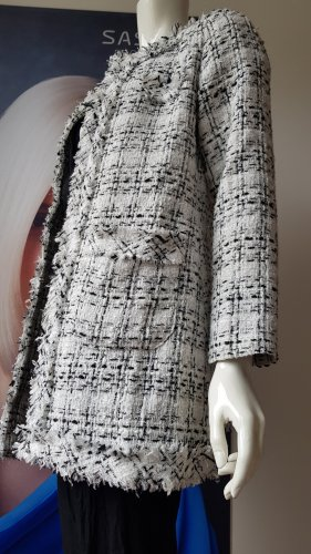 Liu jo Wool Coat white-black wool