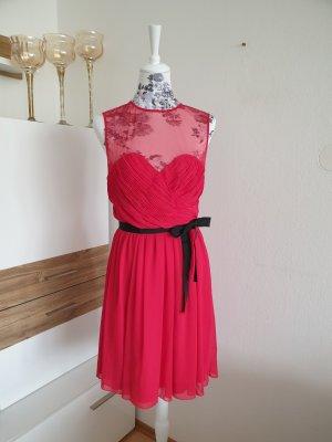 Liu jo Robe mi-longue noir-rouge framboise