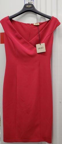 Liu jo Sukienka midi czerwony neonowy