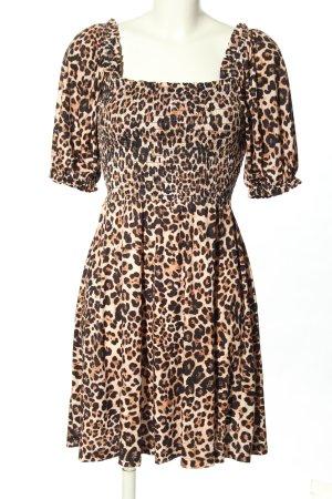 Liu jo Mini Dress black-cream leopard pattern casual look