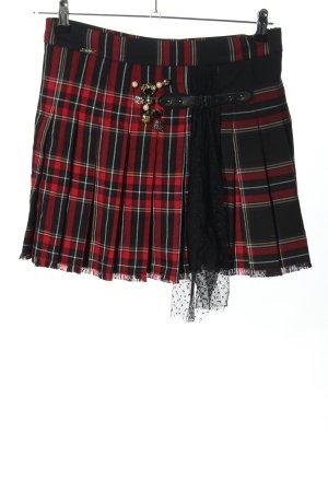 Liu jo Miniskirt black-red check pattern elegant