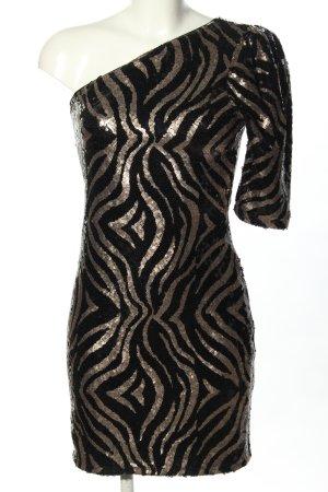 Liu jo Robe asymétrique noir-bronze motif animal élégant