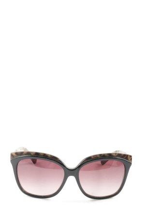Liu jo Okulary motylki Zwierzęcy wzór W stylu casual