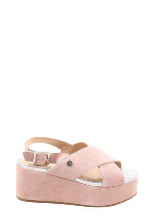 Liu jo Plateauzool sandalen roze casual uitstraling