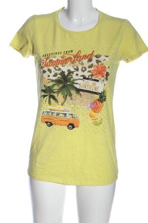 Liu jo Print-Shirt blassgelb Motivdruck Casual-Look