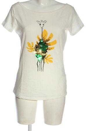 Liu jo Koszulka z nadrukiem biały Nadruk z motywem W stylu casual
