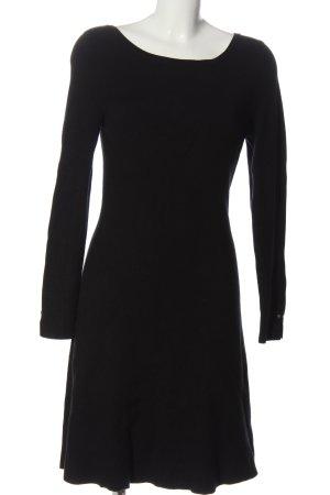 Liu jo Pulloverkleid schwarz Zopfmuster Casual-Look