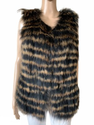 Liu Jo raccoon fur vest