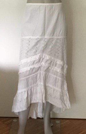 Liu jo Falda de encaje blanco Algodón