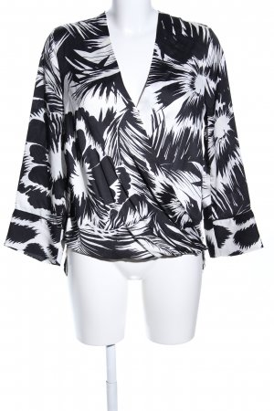 Liu jo Slip-over Blouse black-white abstract pattern casual look