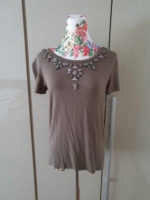 Liu jo Camicia oversize marrone-grigio-marrone chiaro
