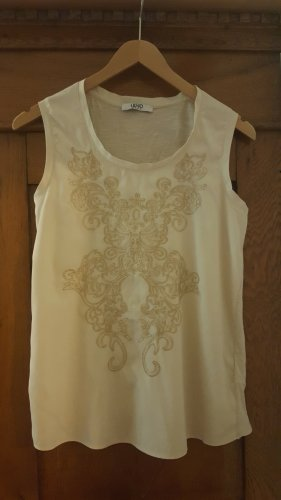 Liu Jo Shirt Top stickerei beige/gold Gr.34 XS