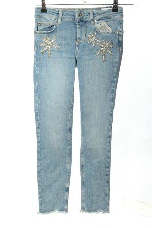 Liu jo Jeans skinny blu caratteri ricamati stile casual