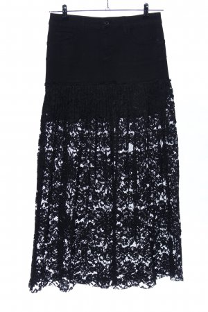 Liu jo Falda de encaje negro look casual