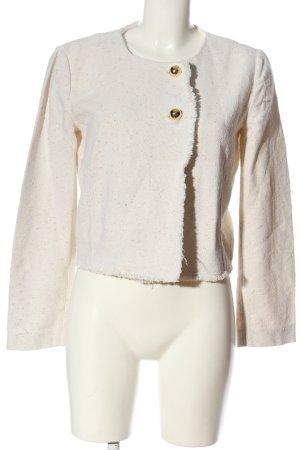 Liu jo Marynarka z dzianiny kremowy-biały Na całej powierzchni W stylu casual