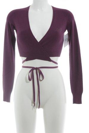 Liu jo Knitted Bolero purple casual look