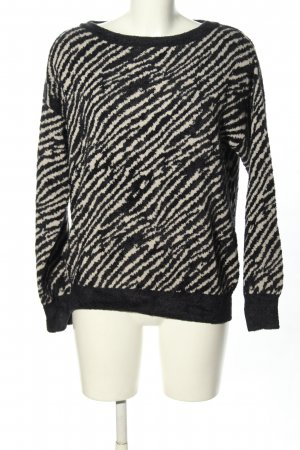Liu jo Knitted Sweater black-natural white animal pattern casual look