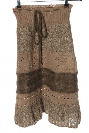 Liu jo Knitted Skirt brown-natural white flecked casual look