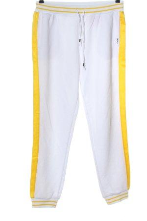 Liu jo Spodnie dresowe biały-bladożółty Sportowy styl