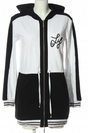 Liu jo Veste sweat blanc-noir style décontracté