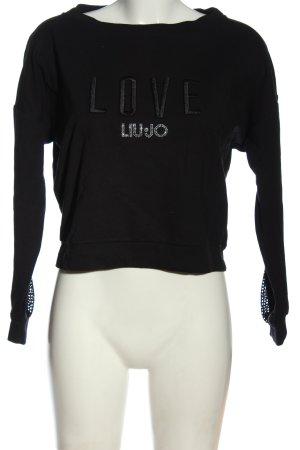 Liu jo Sweatshirt noir lettrage imprimé style décontracté