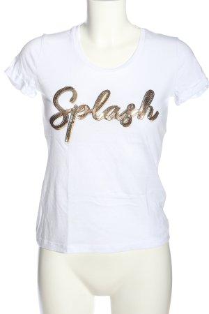 Liu jo T-Shirt weiß Schriftzug gedruckt Casual-Look