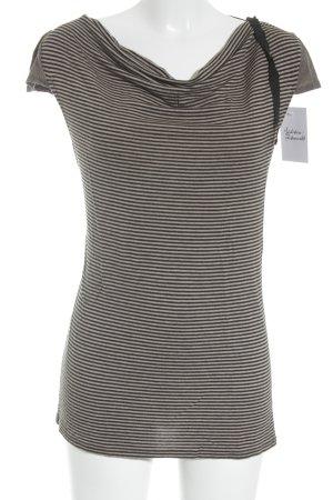 Liu jo T-Shirt beige-schwarz Streifenmuster schlichter Stil