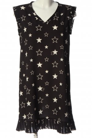 Liu jo Shirtkleid schwarz-weiß Allover-Druck Casual-Look