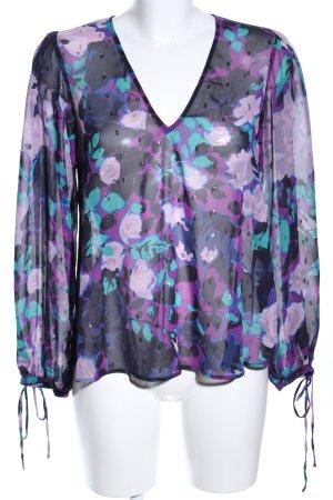 Liu jo Transparenz-Bluse Blumenmuster Casual-Look