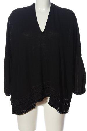 Liu jo V-Ausschnitt-Pullover schwarz Casual-Look