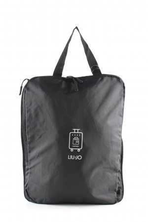 Liu jo Weekender Bag black themed print casual look