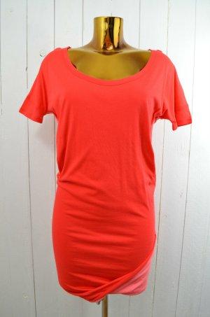 LIV BERGEN Kleid Jerseykleid T-Shirt-Kleid Mod.MONIQUE FLAUBERT Rot Rosa Gr.XS