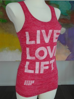 LIVE, LOVE, LIFT. Burnout Shirt. NEU m. Etikett