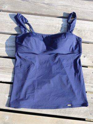 Tankini niebieski Tkanina z mieszanych włókien